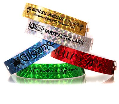 Holographic Vinyl Wristbands