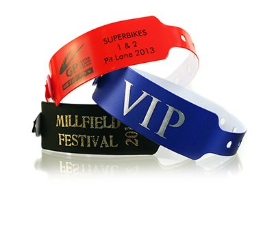 Wide-Face Vinyl Wristbands