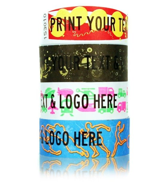 Printed Patterned 1″ Tyvek Wristbands