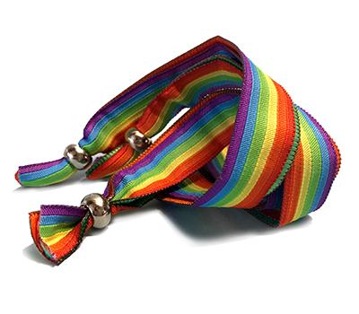 Fabric Rainbow Wristbands