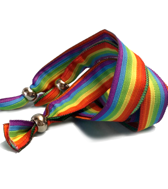 fabric wristbands sliding bead
