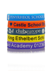 printed school wristbands